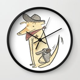 Dog Sheriff Of The Old West Portrait Wall Clock