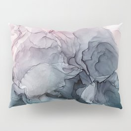 Blush and Paynes Gray Flowing Abstract Reflect Pillow Sham