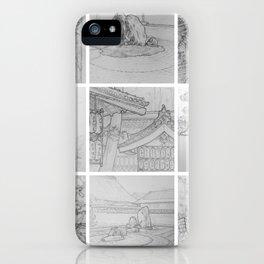 Sakura Japan sketches by David A Sutton. sketchbookexplorer.com iPhone Case