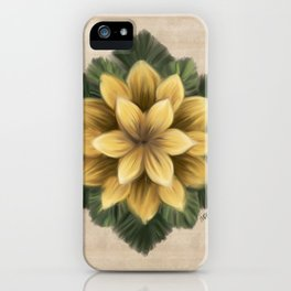 Verbascum Thapsus Sand iPhone Case