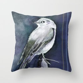Townsend's Solitaire (blue shade) Throw Pillow