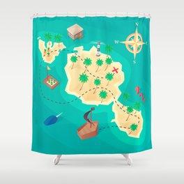 Tahiti Treasure Shower Curtain
