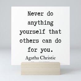 9   | Agatha Christie Quotes | 190821 Mini Art Print