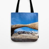 alabama Tote Bags featuring Alabama Arch by davehare