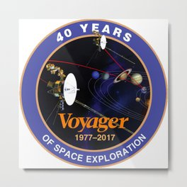 Voyager at 40 Metal Print
