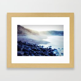 When the ocean meets the island Framed Art Print