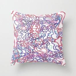 Capillary Reaction  Throw Pillow