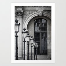 Parisian Streetlamps Art Print