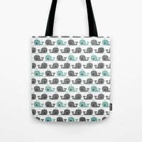 moby Tote Bags featuring Moby by Tradewind Creative