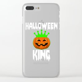 Halloween King Funny Halloween Horror Scary Clear iPhone Case