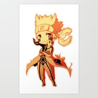 naruto Art Prints featuring Naruto  by WTFmoments