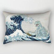 Godzilla Off Kanagawa Rectangular Pillow