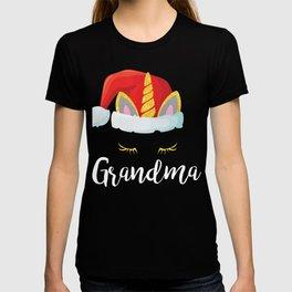 Cute Unicorn Grandma Christmas Funny Gift T-shirt