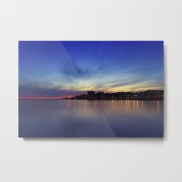 Sunset over Porto. Foz do Douro, Porto, Portugal. Metal Print