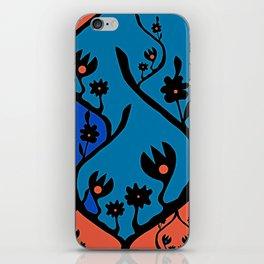 non-repeat florals iPhone Skin