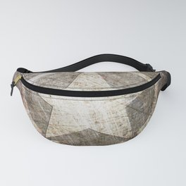 Army Star on Distressed Riveted Metal Door Fanny Pack