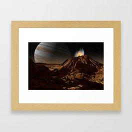 Sulfur fumarole on Io Framed Art Print