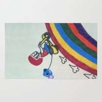 baloon Area & Throw Rugs featuring VROOM VROOM by AhWei