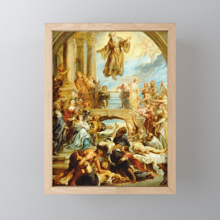 Peter Paul Rubens The Miracles of Saint Francis of Paola Framed Mini Art Print