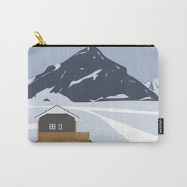 Cabin in the Snow in Iceland Carry-All Pouch