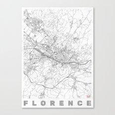 Florence Map Line Canvas Print