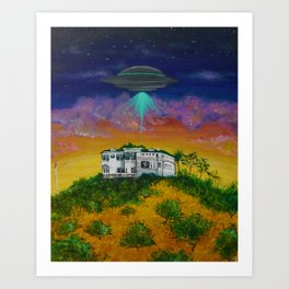 UFO Above Mt. Ada Art Print