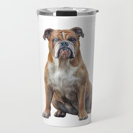 Drawing dog breed English Bulldog Travel Mug