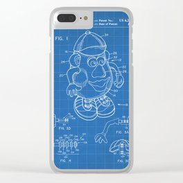 Mr Potato Head Patent - Potato Head Art - Blueprint Clear iPhone Case