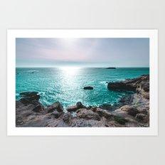 Turquoise Cove Art Print