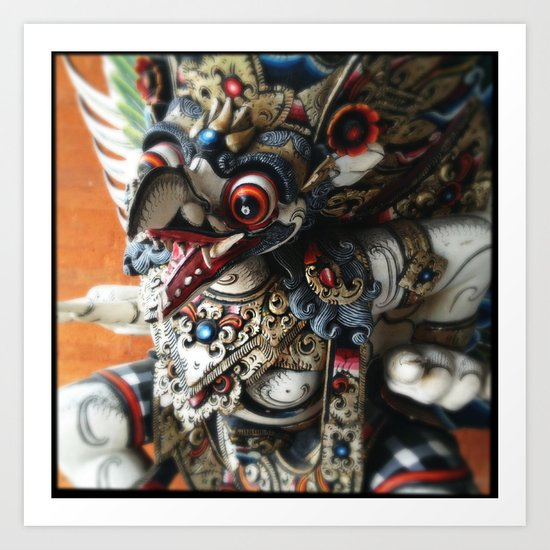 Balinese God Statue Art Print