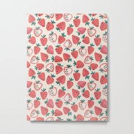 Strawberry Love Metal Print