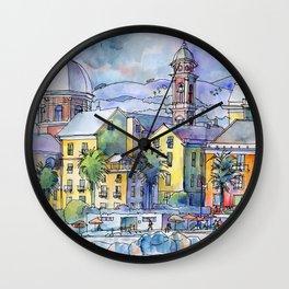 Pegli dal mare Wall Clock
