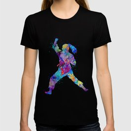 Karate Girl Martial Arts Colorful Watercolor Sports Art T-shirt