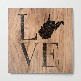 West Virginia State Map Love Home Wood Vintage Sign Metal Print