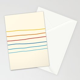 Bright Classic Abstract Minimal 70s Rainbow Retro Summer Style Stripes #1 Stationery Cards