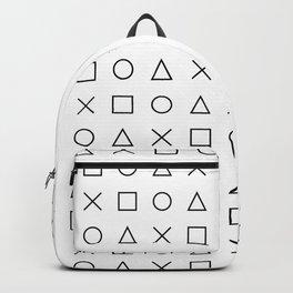 gaming design white - gamer pattern black and white Backpack