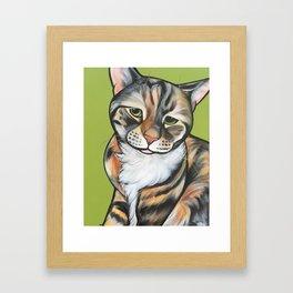 Kiwi the Kitty Framed Art Print
