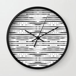 B&W Shibori #society6 #shibori Wall Clock