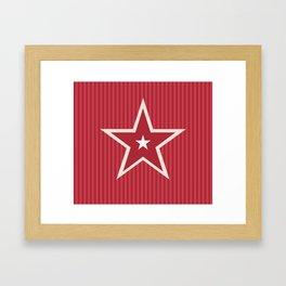 The Greatest Star! Red Framed Art Print