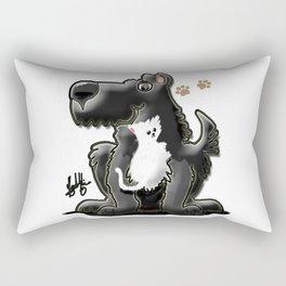 The Dog and the Cat Rectangular Pillow
