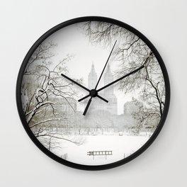 Winter - Central Park - New York City Wall Clock