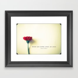 I must have flowers, always, and always - Claude Monet  Framed Art Print