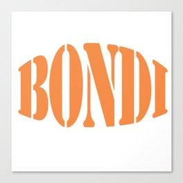 Bondi word in a Stencil Font. Canvas Print