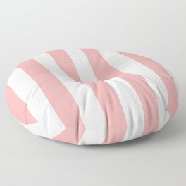 Coral Pink Stripe Vertical Floor Pillow