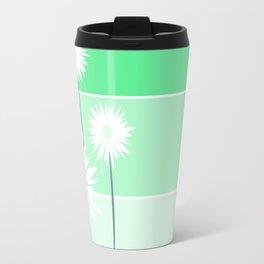 simple flowers - teal Travel Mug