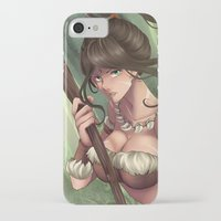 league of legends iPhone & iPod Cases featuring League of Legends Nidalee by Rikku Hanari