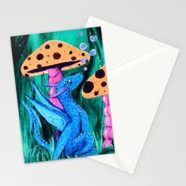Bubbles and Shrooms Stationery Cards