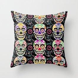Happy calaveras Throw Pillow
