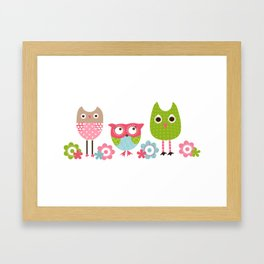 Whimsy Owls Framed Art Print