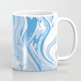 Blue and white fluid colors Coffee Mug